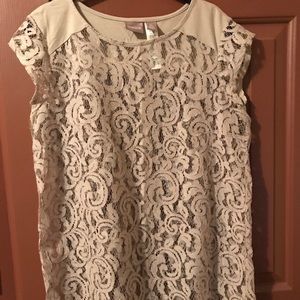 Chico's Tan Lace Top